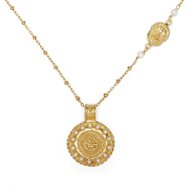 Laran pendant necklace in gold