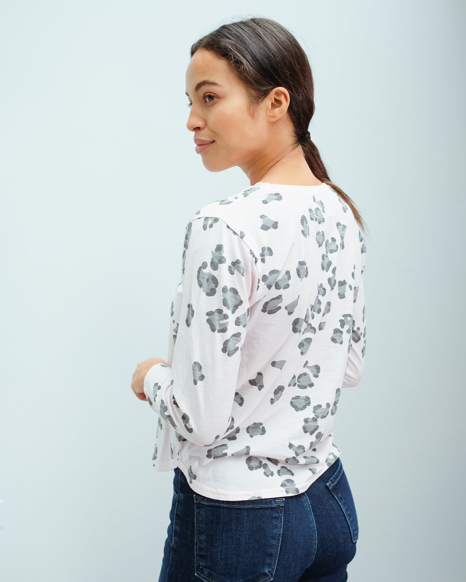 JU leopard tee in blossom