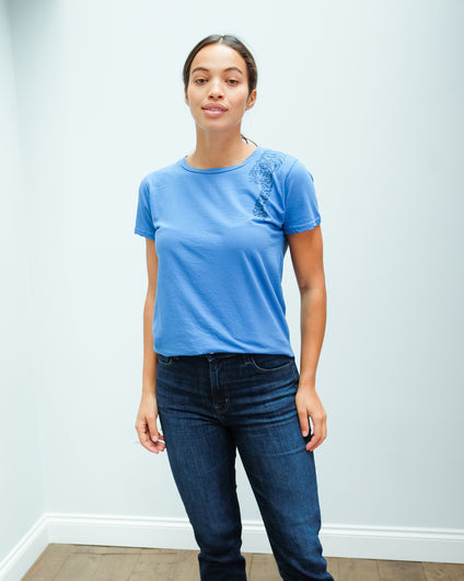 JU Ti tiger tee in bright blue