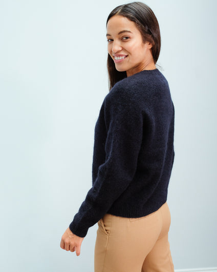 SEC.F Brook Knit Jumper in Eclipse