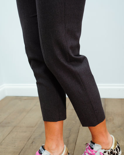 PS Audrey Stretch Wool Trousers in Anthracite