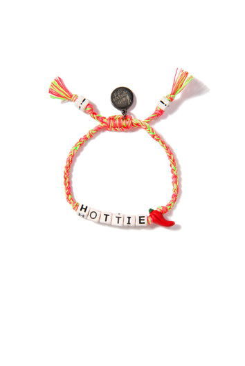 VA Hottie bracelet in neon pink and green