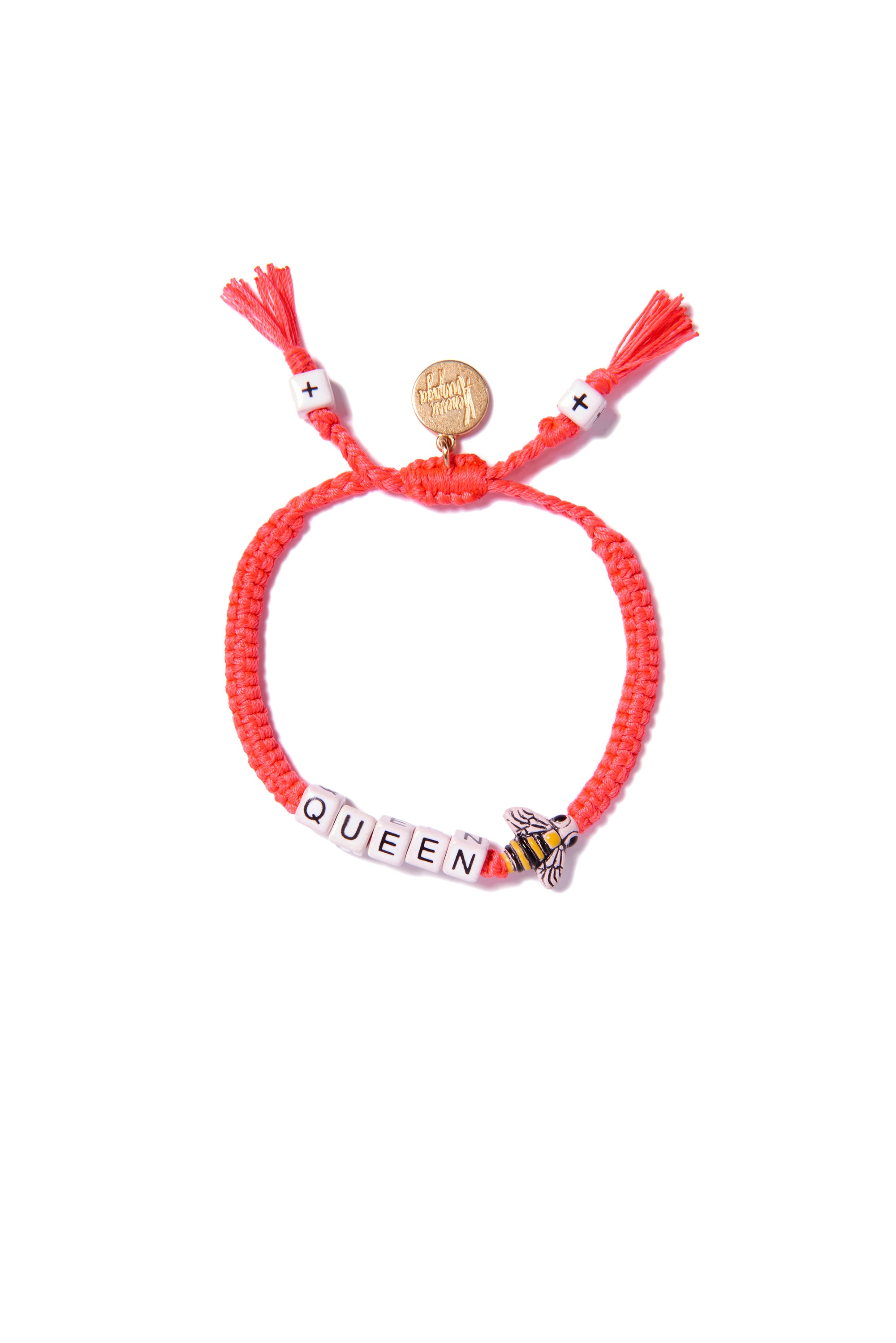 VA Queen Bee bracelet in neon pink