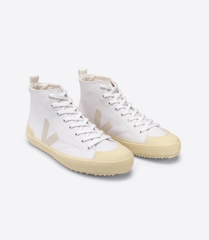 VEJA Nova Canvas in White, Butter