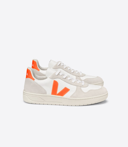 VEJA V-10 Mesh White, Natural, Orange Fluo