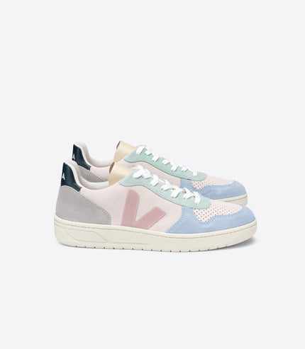 VEJA V-10 Suede in Multi, Natural, Babe