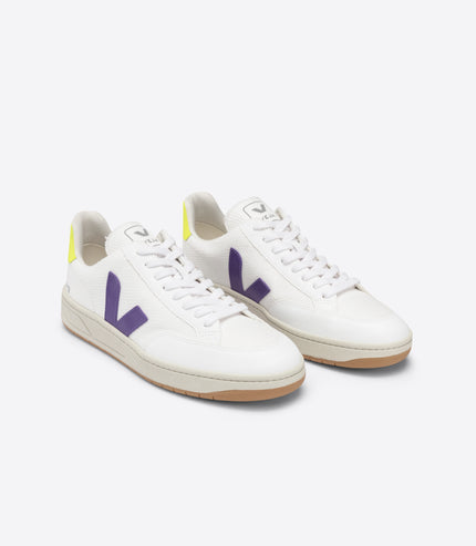 VEJA V-12 Mesh in White, Purple, Yellow Fluo