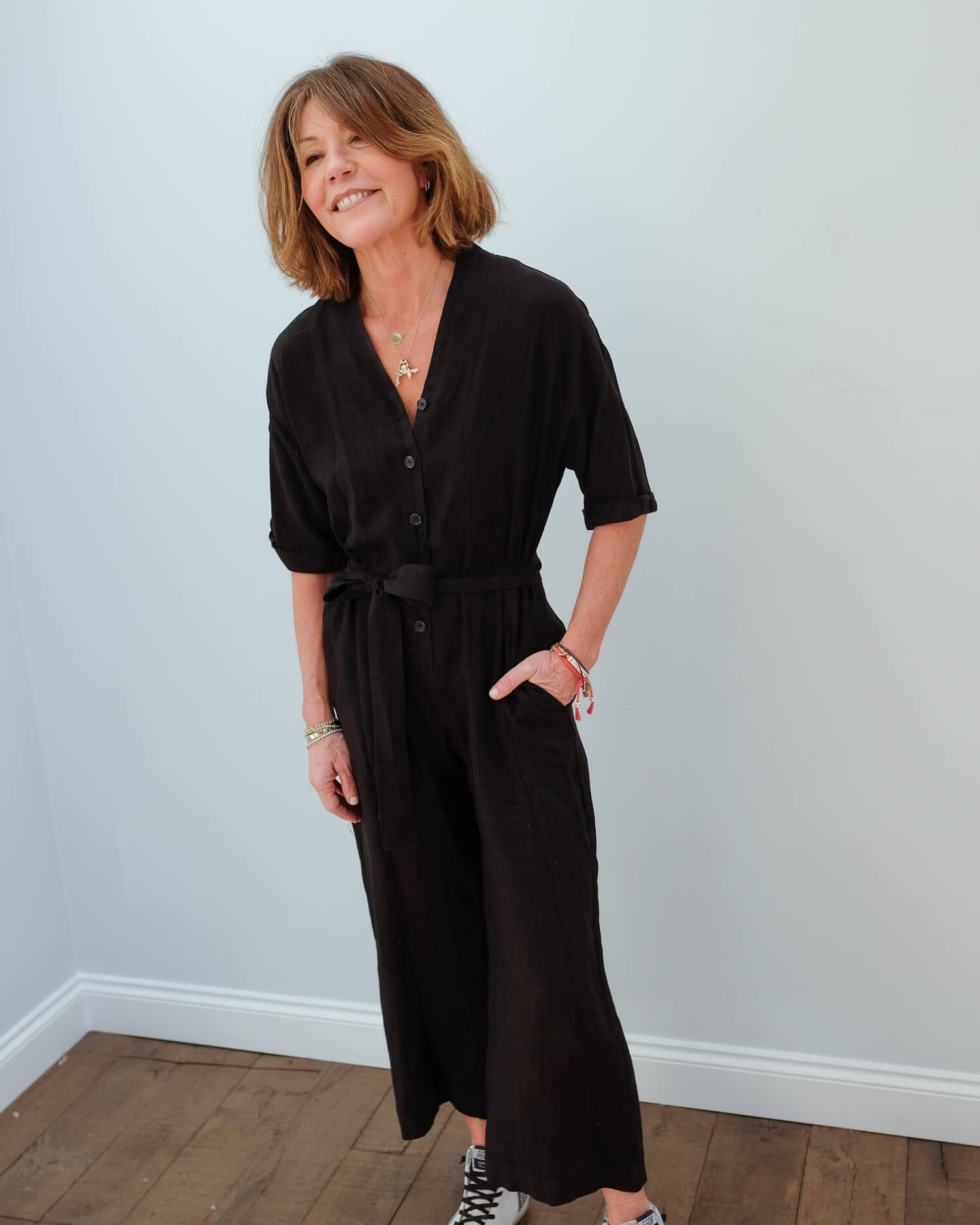 V Tamra jumpsuit in black