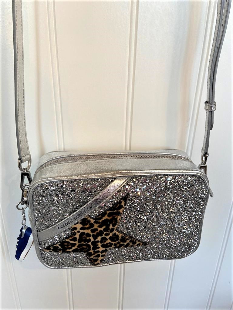 GG Star Bag in Glitter with Leopard Star