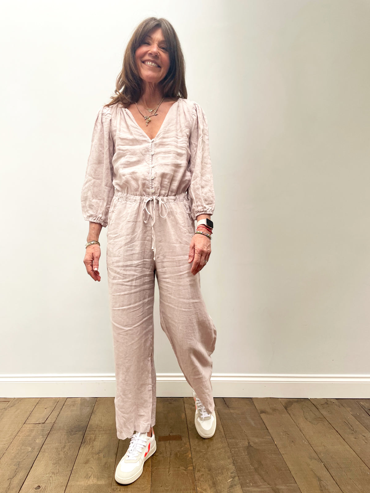 VELVET Dionne Jumpsuit in Cement