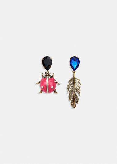 EA Valessi love bug earrings in pink