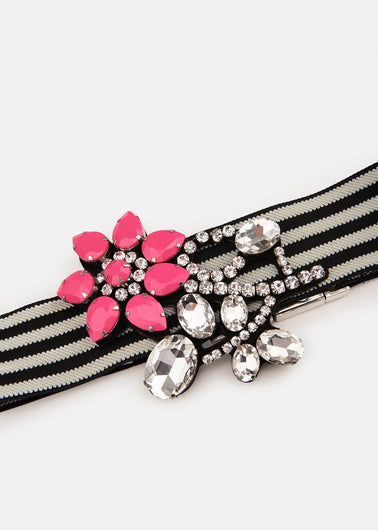 EA Vavalon flower stone belt in pink