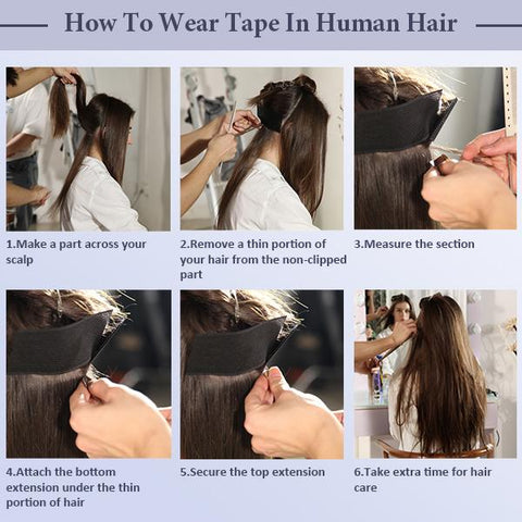 HOW TO APPLY INVISSIBLE TAPE EXTENSIONS