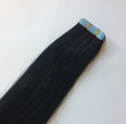 Jet Black Tape In Extensions #1 - Belle Noir Beauty