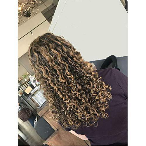 Wig Kinky Curly Chocolate Brown #4 Highlighted with Caramel Blonde #27(KC #P4/27)