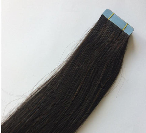 Black Darkest Brown Tape In Extensions #1B - Belle Noir Beauty