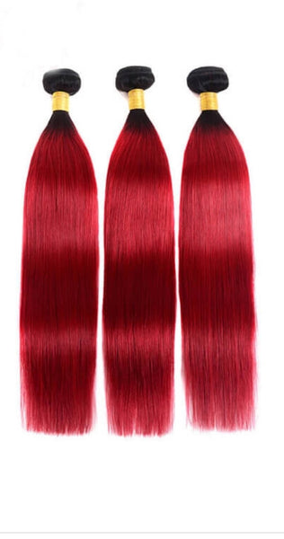 10A Red Ombre Bundles - Belle Noir Beauty