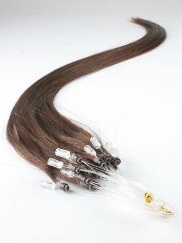 Chocolate Brown Micro Loop Extensions - Belle Noir Beauty (product_title) (product_type)
