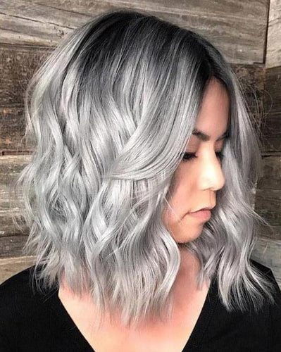 Ombre Color Black #1B Fading to Gery(Wave #1B/Grey)