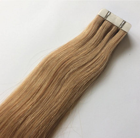 Golden Blonde Tape In Extensions #12 - Belle Noir Beauty