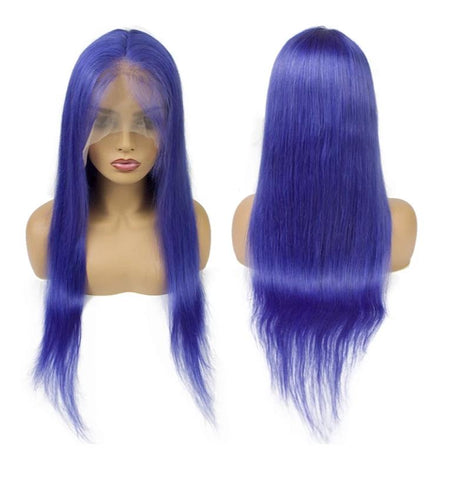 Full Lace 10a Grade Hair Purple Wig