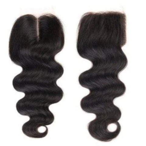 10A Peruvian  4x4  Wavy Closures - Belle Noir Beauty