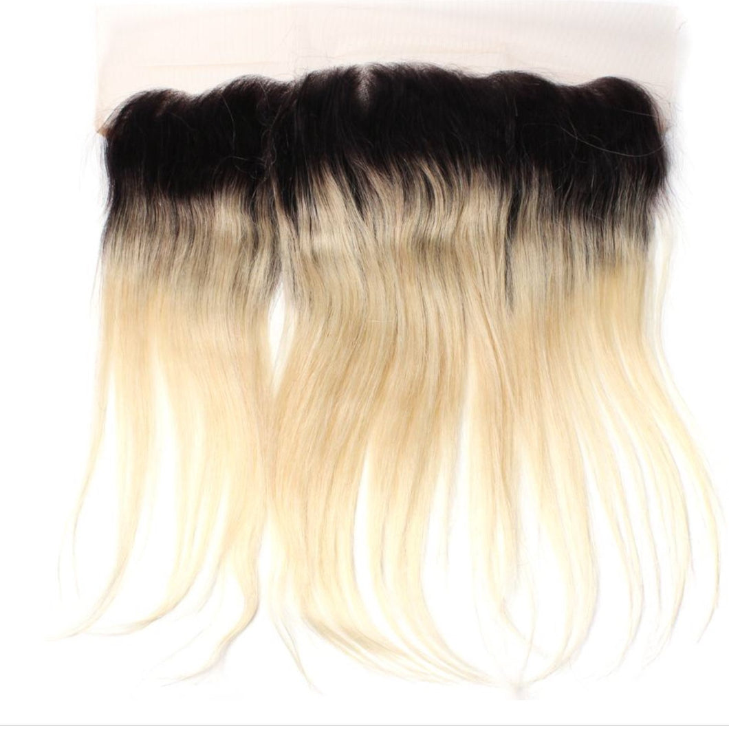 Blonde Ombré Straight Frontal System - Belle Noir Beauty (product_title) (product_type)