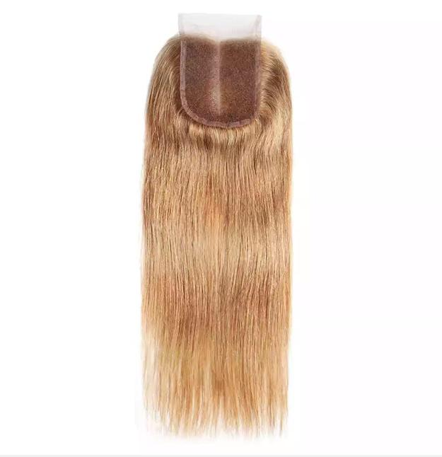 10A Honey Blonde 4x4 Straight Closures - Belle Noir Beauty (product_title) (product_type)