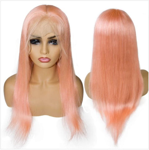 Full Lace 10a Grade Hair Ombre Pink Colour Wig - Belle Noir Beauty