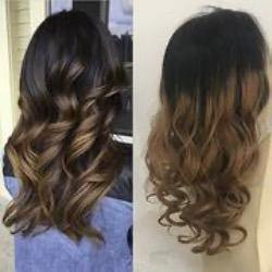 o Wavy Balayage Off Black #1B Highlight With Brown #6 Brazilian