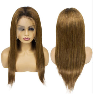 Full Lace 10a Grade Hair Ombre Colour 30 Wig