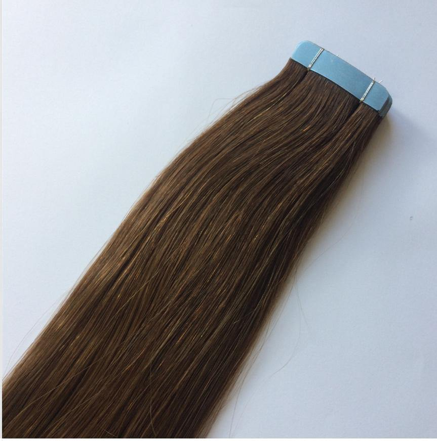 Medium Brown Invisible Tape In Extensions #6