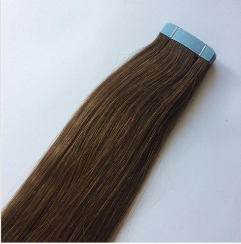 Medium Brown Invisible Tape In Extensions #6 - Belle Noir Beauty
