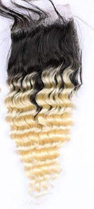 10A Blonde Ombre  4x4  Closures