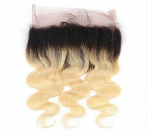 Blonde Ombré Straight Frontal System