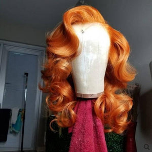 Lace Front 10a Grade Orange Wig Unit - Belle Noir Beauty
