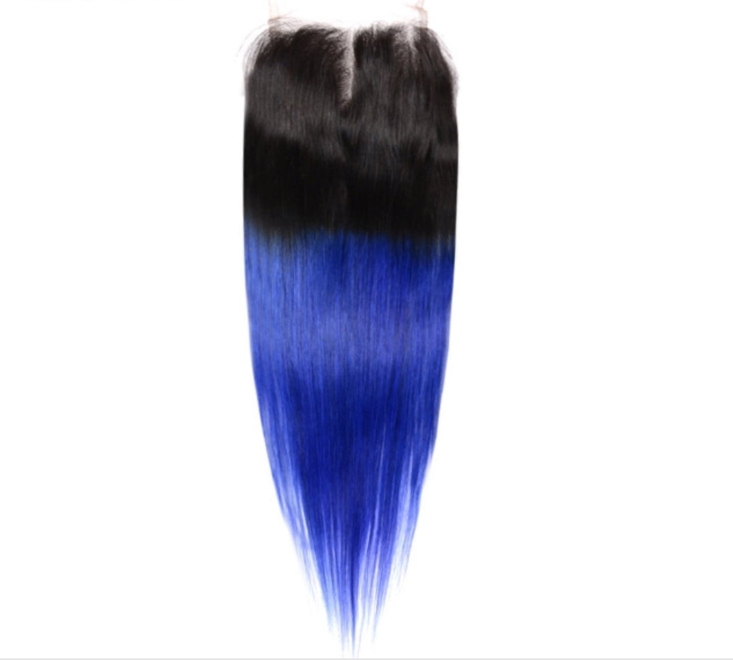 10A Blue Ombré 4x4 Closures