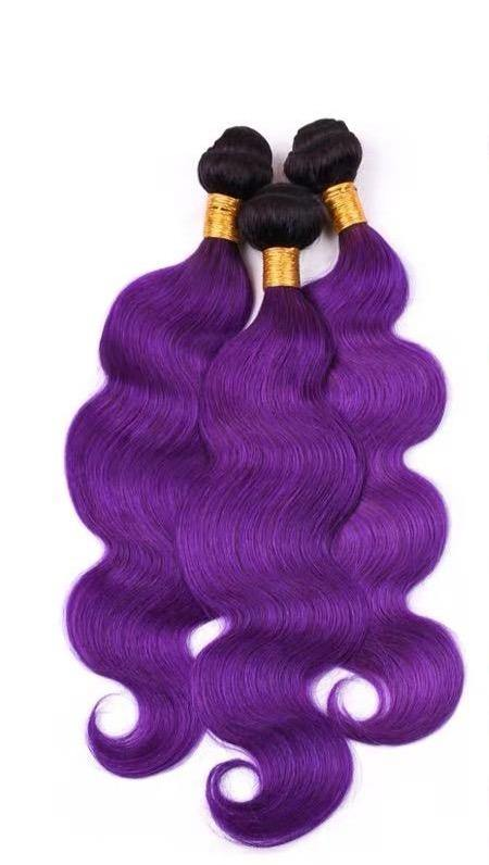 10A Purple 1B Wavy  Bundles - Belle Noir Beauty (product_title) (product_type)