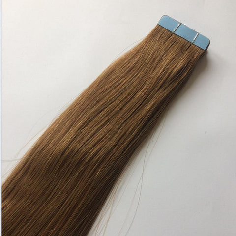 Medium Chestnut Brown Tape In Extensions #10 - Belle Noir Beauty