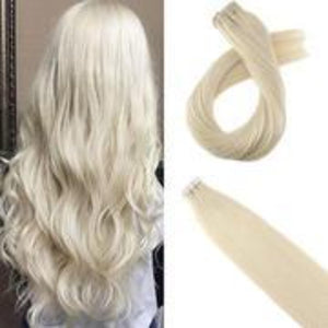 Full head White Invisi Tape In
