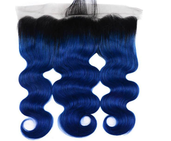 Blue Ombre  Frontal System - Belle Noir Beauty