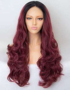 Lace Front 10a Grade Burgundy #99J  Wig