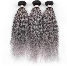 Grey Ombre Curly Bundles
