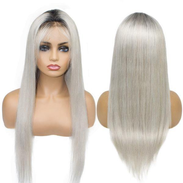 Lace Front 10a Grade Grey Ombre Wig Unit