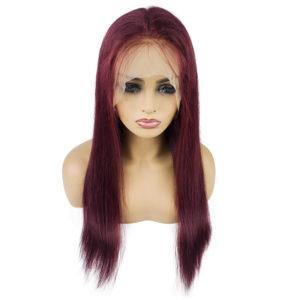 Lace Front 10a Grade #99J Straight Wig