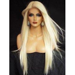 Lace Front 10a Grade #613 Blonde Straight Wig - Belle Noir Beauty (product_title) (product_type)