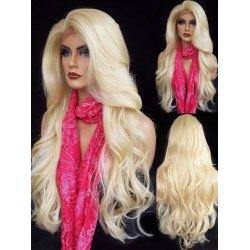 10a Grade Lace Front Wavy Blonde Wig - Belle Noir Beauty (product_title) (product_type)