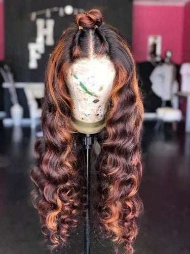Wavy Ombre Colour  Brown and Caramel