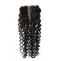 Middle Part Curly Top Closure
