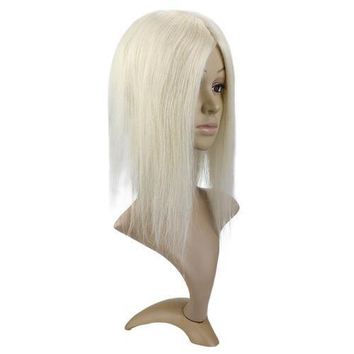 Hair Toppers Women Clip In Mono Topper Human Hair Blonde #18 Highlighted With Blonde #613(#P18/